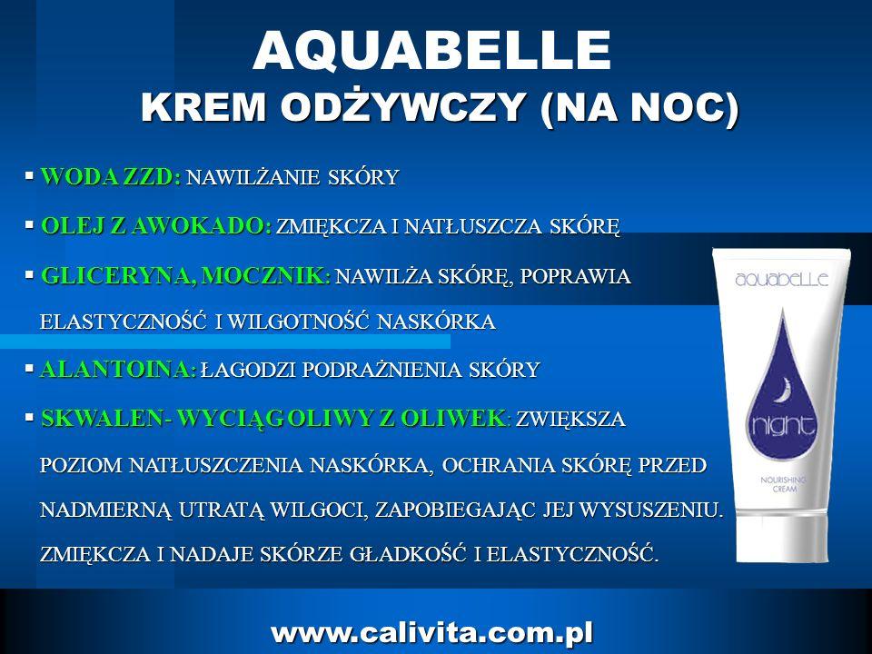 AQUABELLE KREM ODŻYWCZY (NA NOC) www.calivita.com.pl