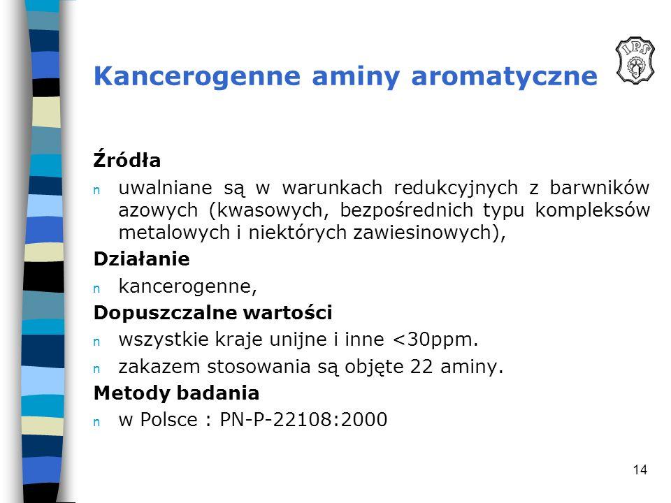 Kancerogenne aminy aromatyczne