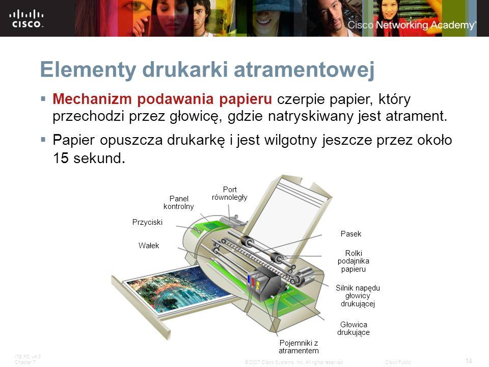 Elementy drukarki atramentowej
