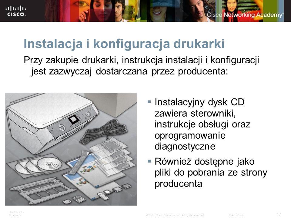 Instalacja i konfiguracja drukarki