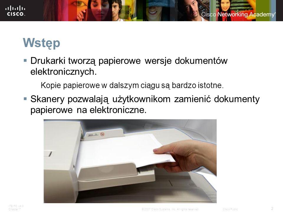 Wstęp Drukarki tworzą papierowe wersje dokumentów elektronicznych.