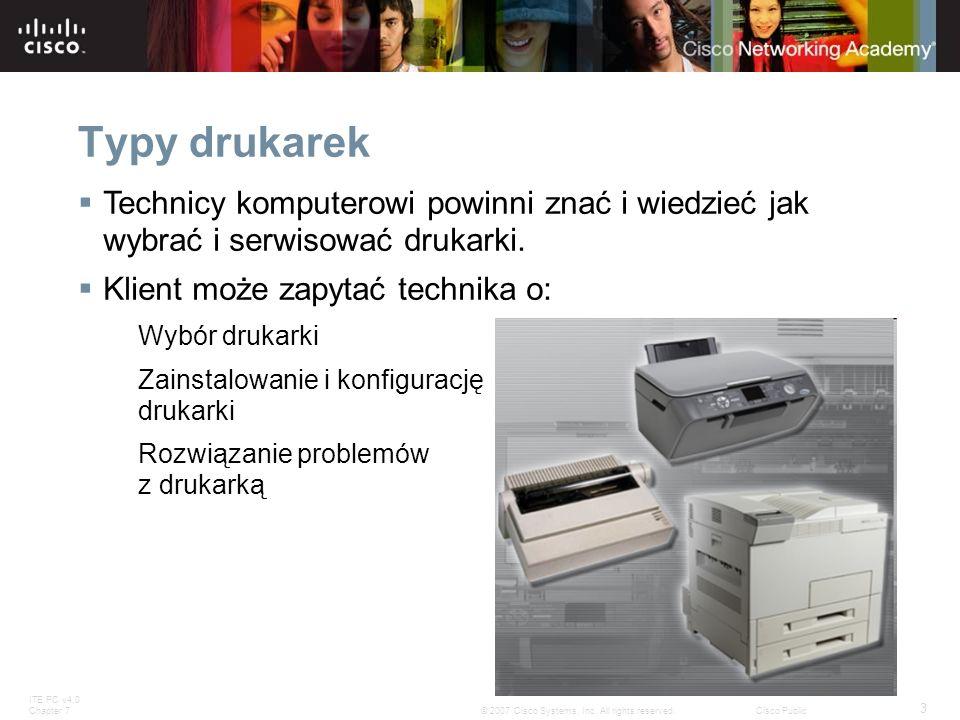 Typy drukarekTechnicy komputerowi powinni znać i wiedzieć jak wybrać i serwisować drukarki. Klient może zapytać technika o: