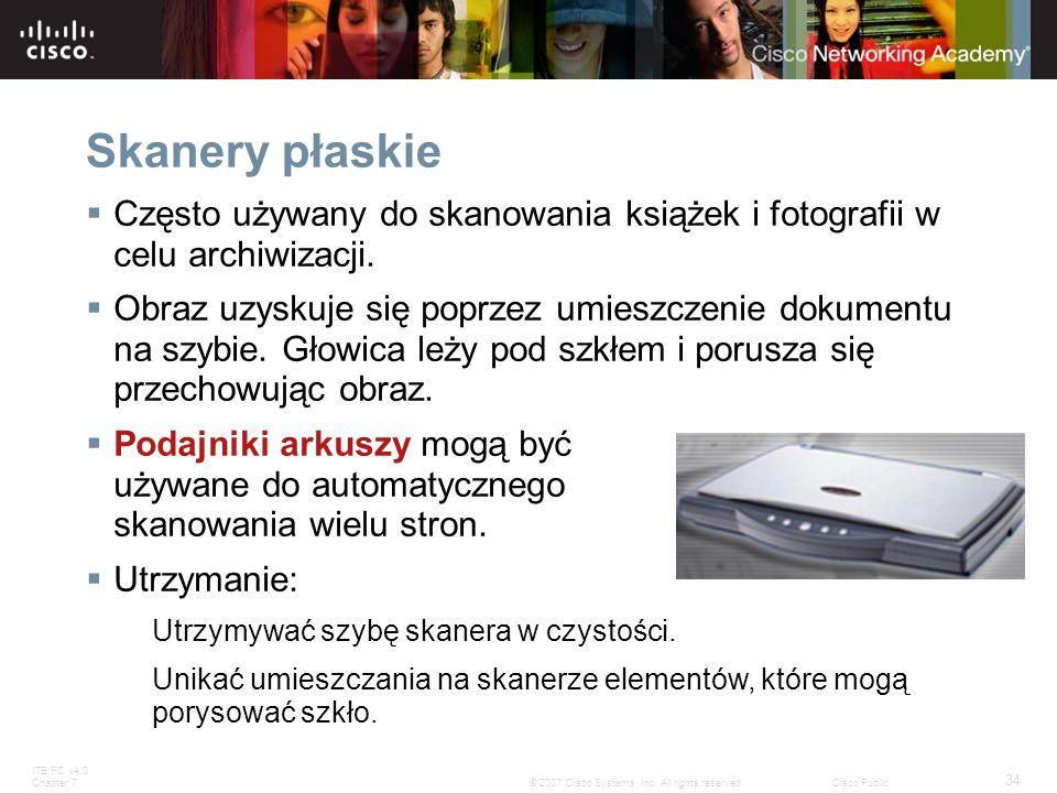 Skanery płaskieCzęsto używany do skanowania książek i fotografii w celu archiwizacji.