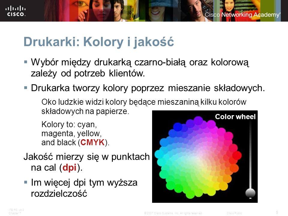 Drukarki: Kolory i jakość