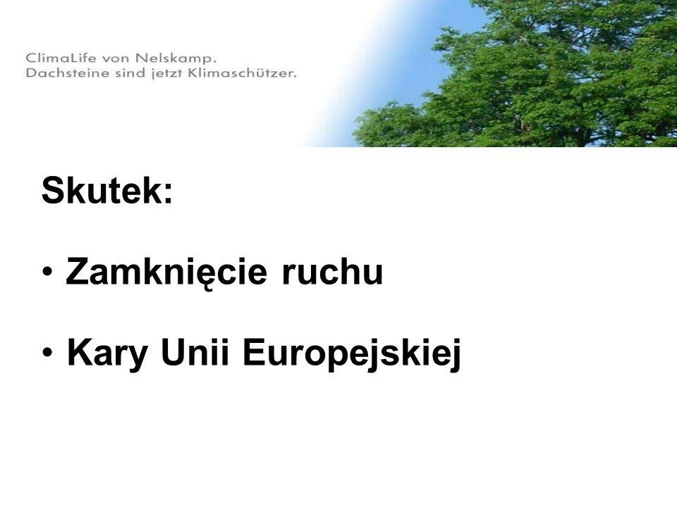 Skutek: Zamknięcie ruchu Kary Unii Europejskiej