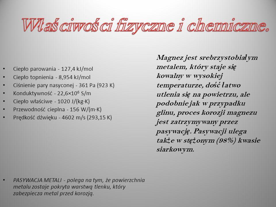 Właściwości fizyczne i chemiczne.