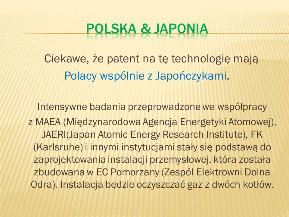 Polska & Japonia Ciekawe, że patent na tę technologię mają