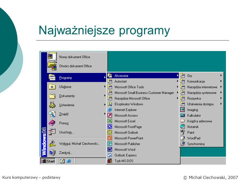 Najważniejsze programy