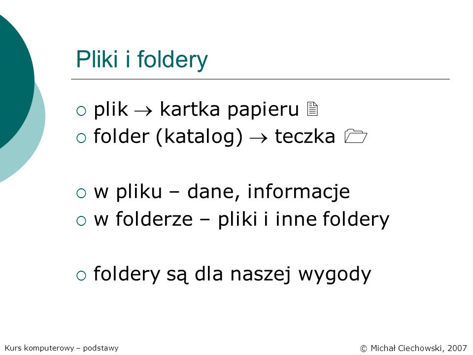 Pliki i foldery plik  kartka papieru  folder (katalog)  teczka 