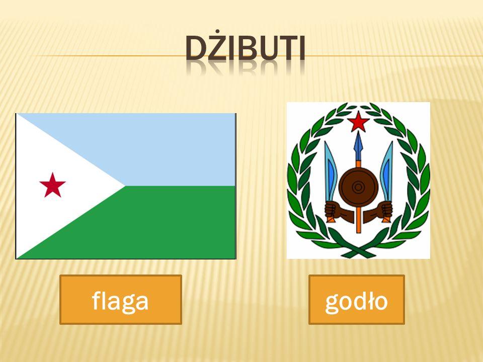 DŻIBUTI flaga godło