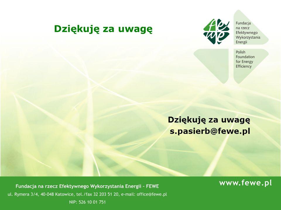 Dziękuję za uwagę Dziękuję za uwagę s.pasierb@fewe.pl