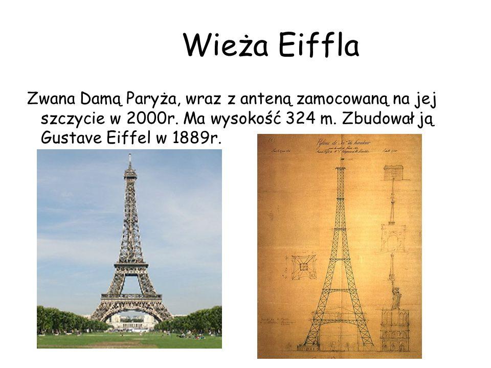 Wieża Eiffla Zwana Damą Paryża, wraz z anteną zamocowaną na jej szczycie w 2000r.