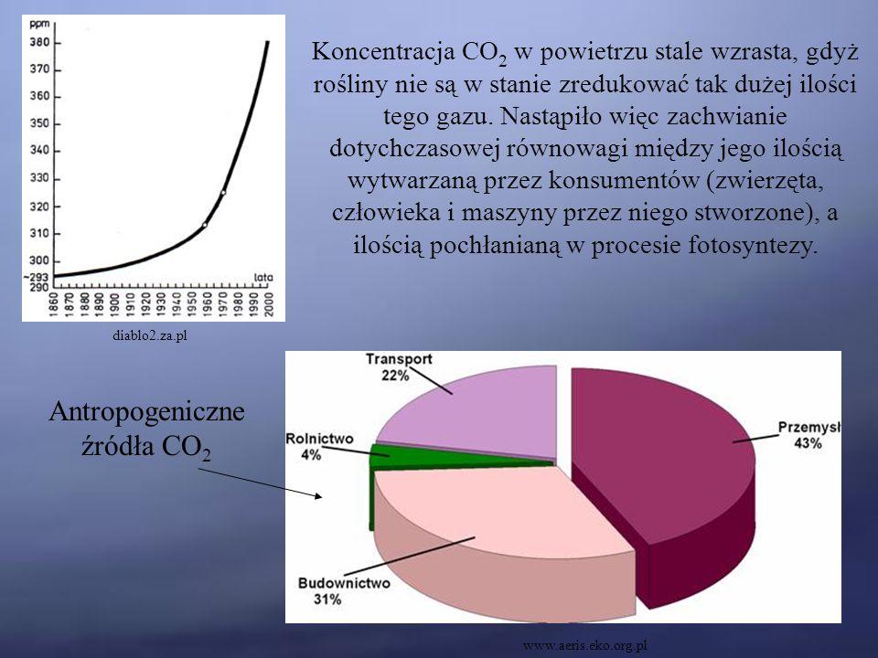 Antropogeniczne źródła CO2