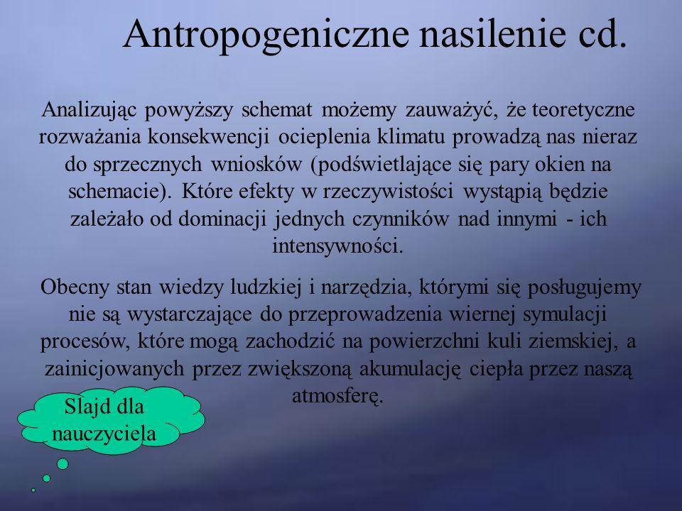 Antropogeniczne nasilenie cd.