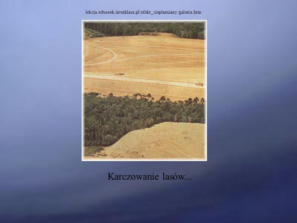 lekcja.eduseek.interklasa.pl/efekt_cieplarniany/galeria.htm Karczowanie lasów...