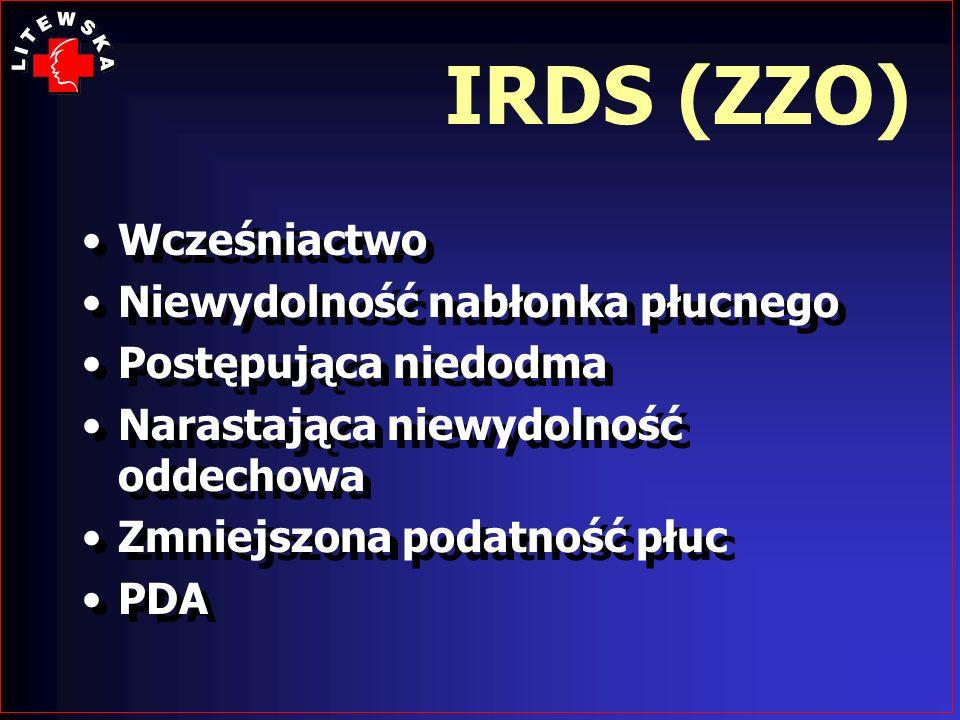 IRDS (ZZO) Wcześniactwo Niewydolność nabłonka płucnego