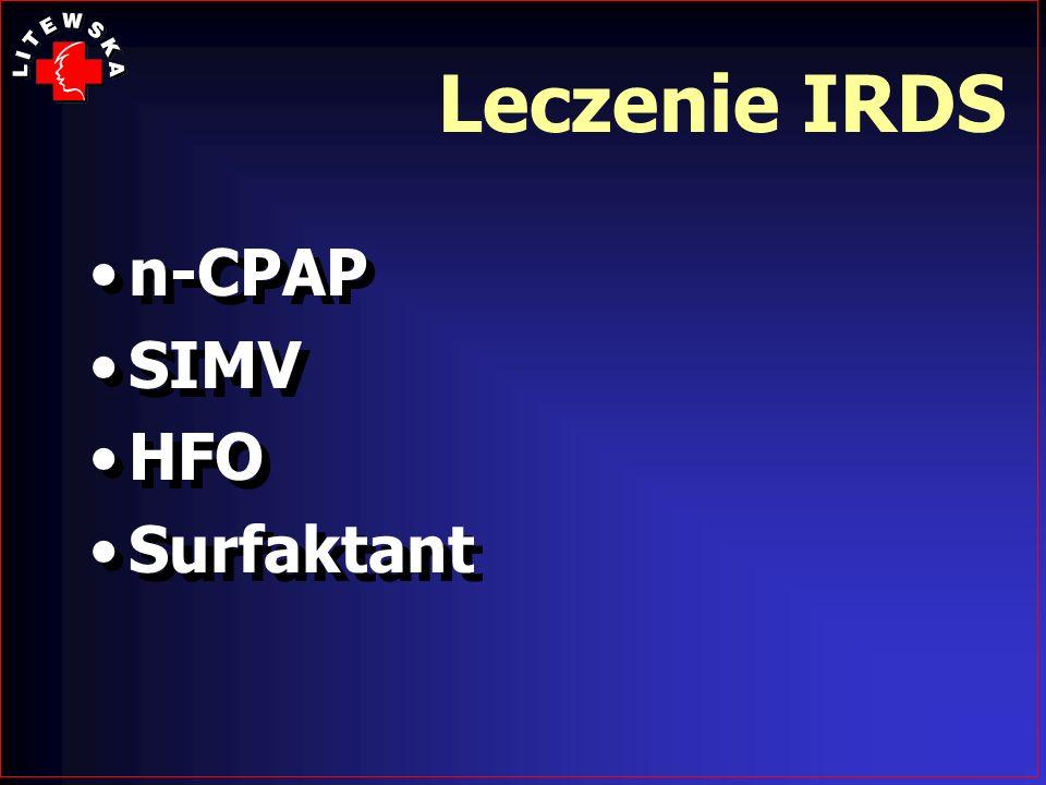 Leczenie IRDS n-CPAP SIMV HFO Surfaktant