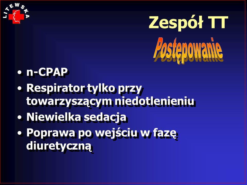 Zespół TT n-CPAP Respirator tylko przy towarzyszącym niedotlenieniu