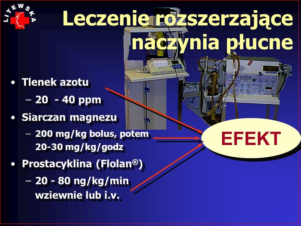 Leczenie rozszerzające naczynia płucne