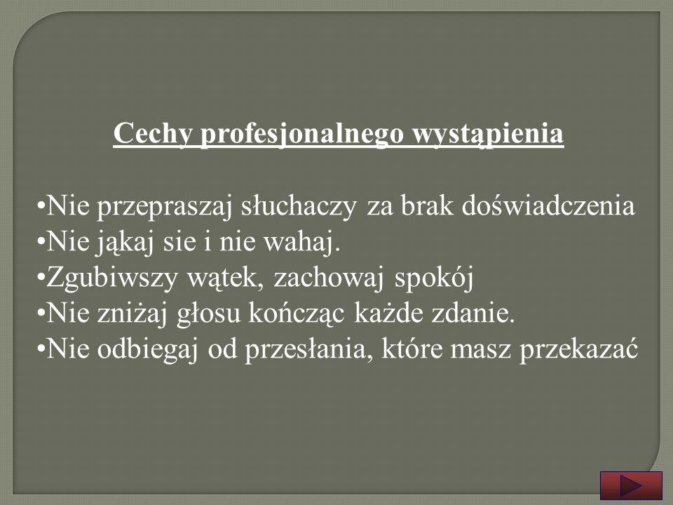 Cechy profesjonalnego wystąpienia