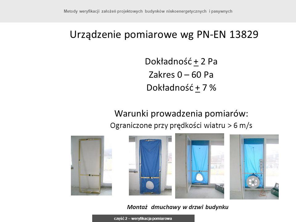 Montaż dmuchawy w drzwi budynku część 2 – weryfikacja pomiarowa