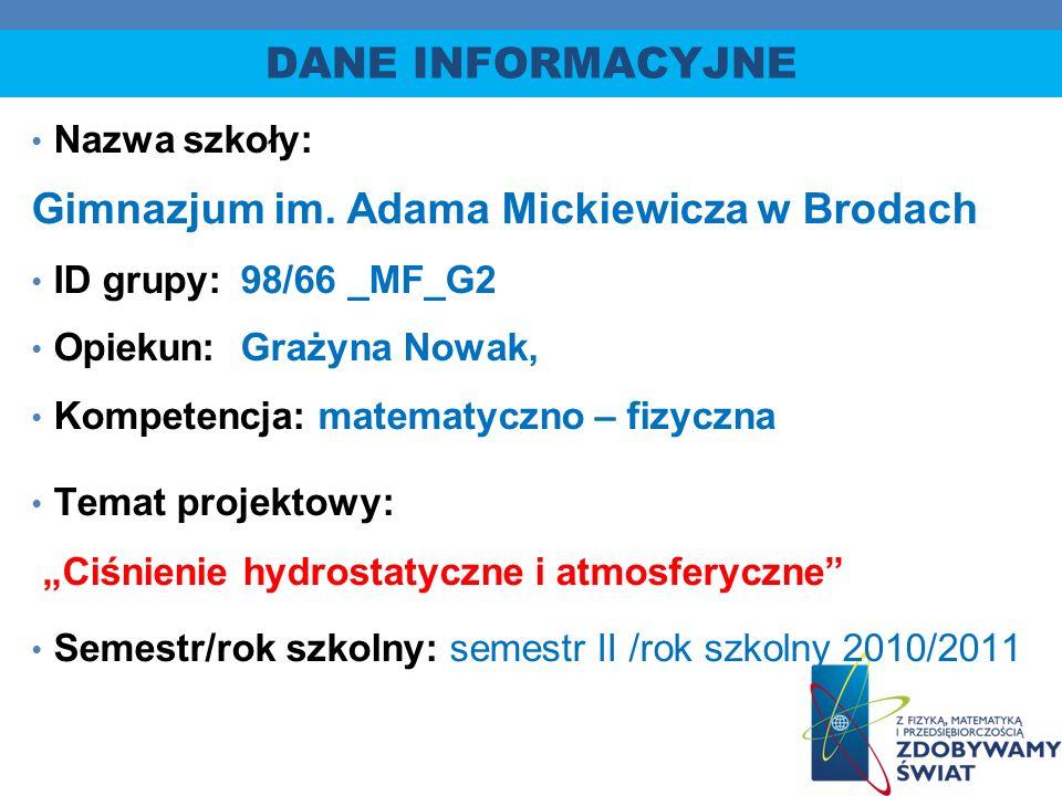 Gimnazjum im. Adama Mickiewicza w Brodach