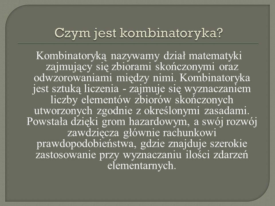 Czym jest kombinatoryka