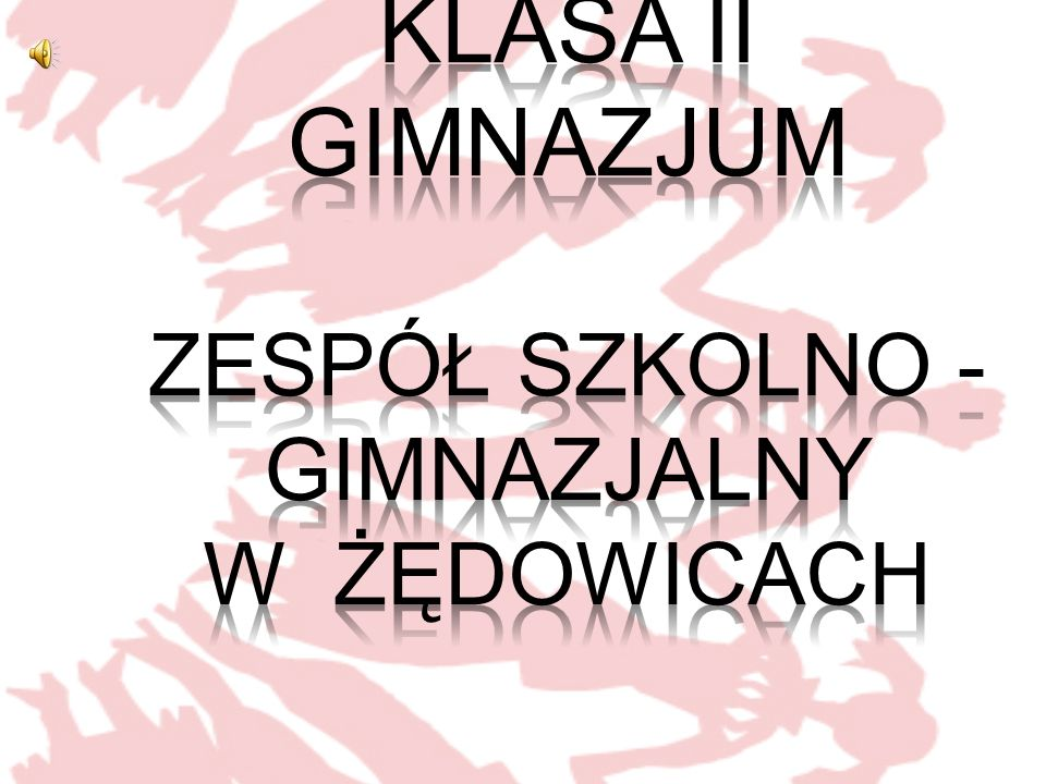 Klasa II gimnazjum Zespół Szkolno - Gimnazjalny w ŻĘDOWICACH