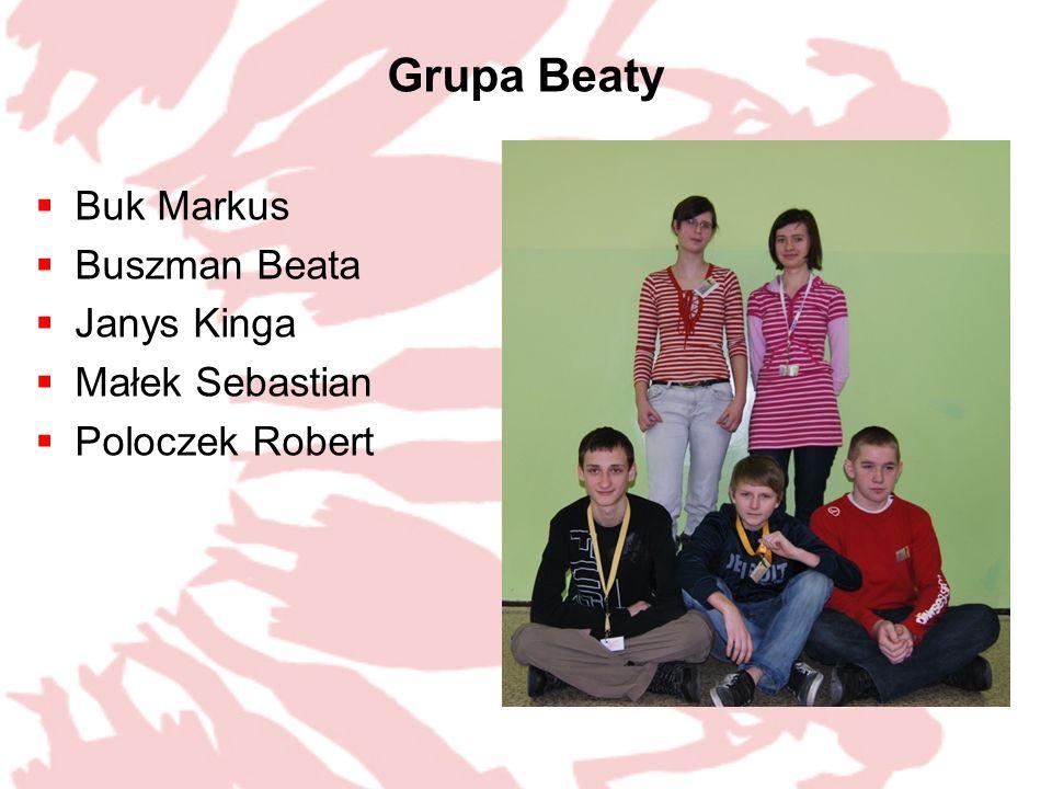 Grupa Beaty Buk Markus Buszman Beata Janys Kinga Małek Sebastian