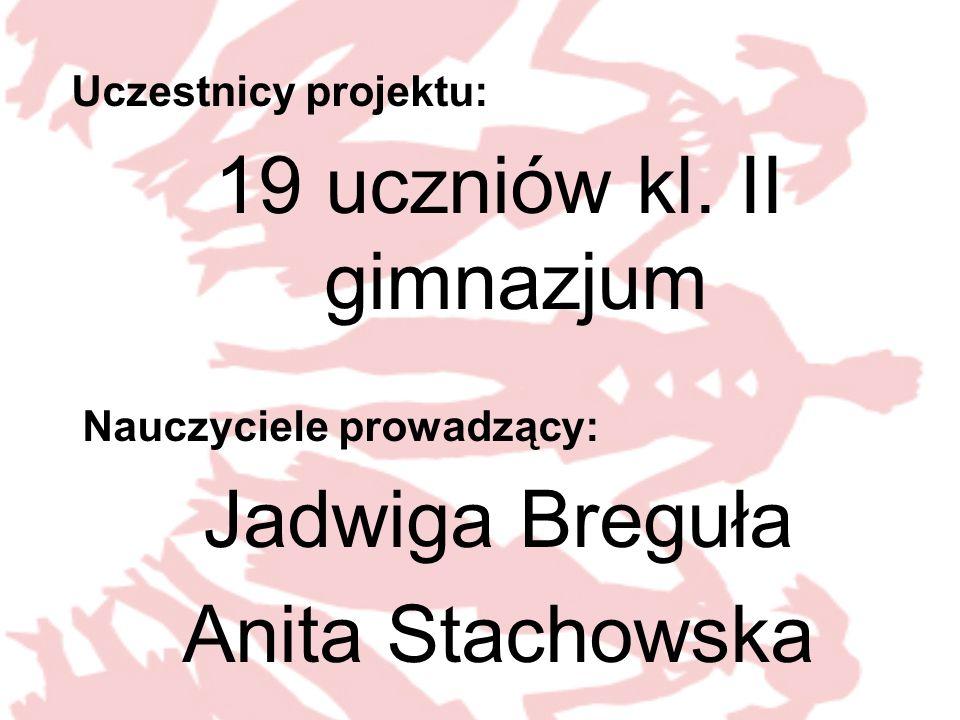 19 uczniów kl. II gimnazjum