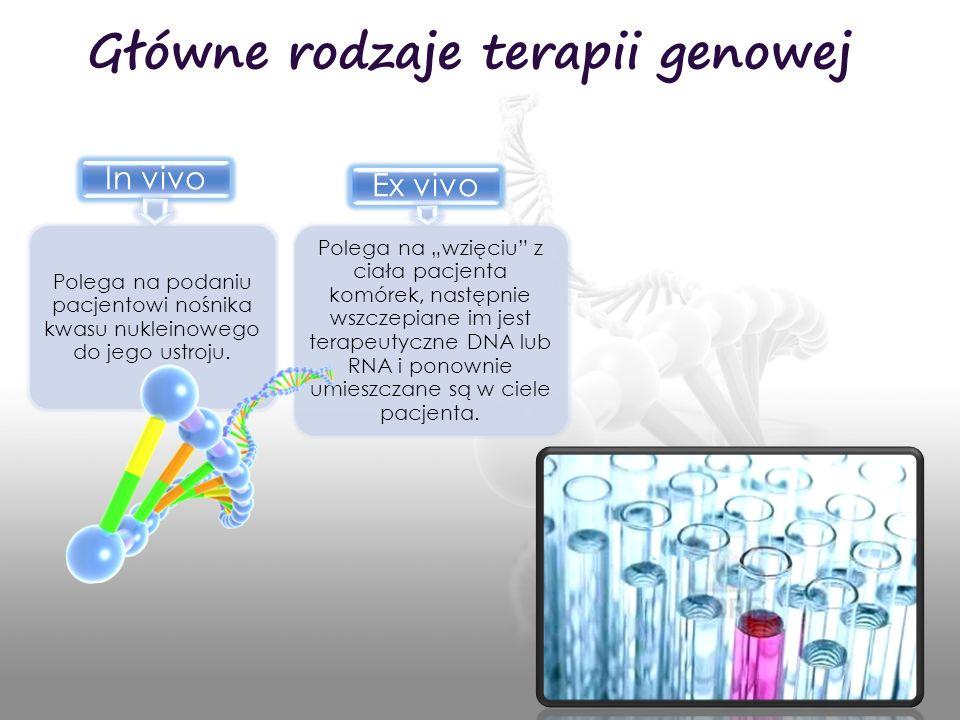 Główne rodzaje terapii genowej