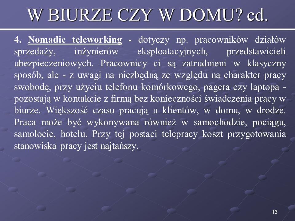 W BIURZE CZY W DOMU cd.
