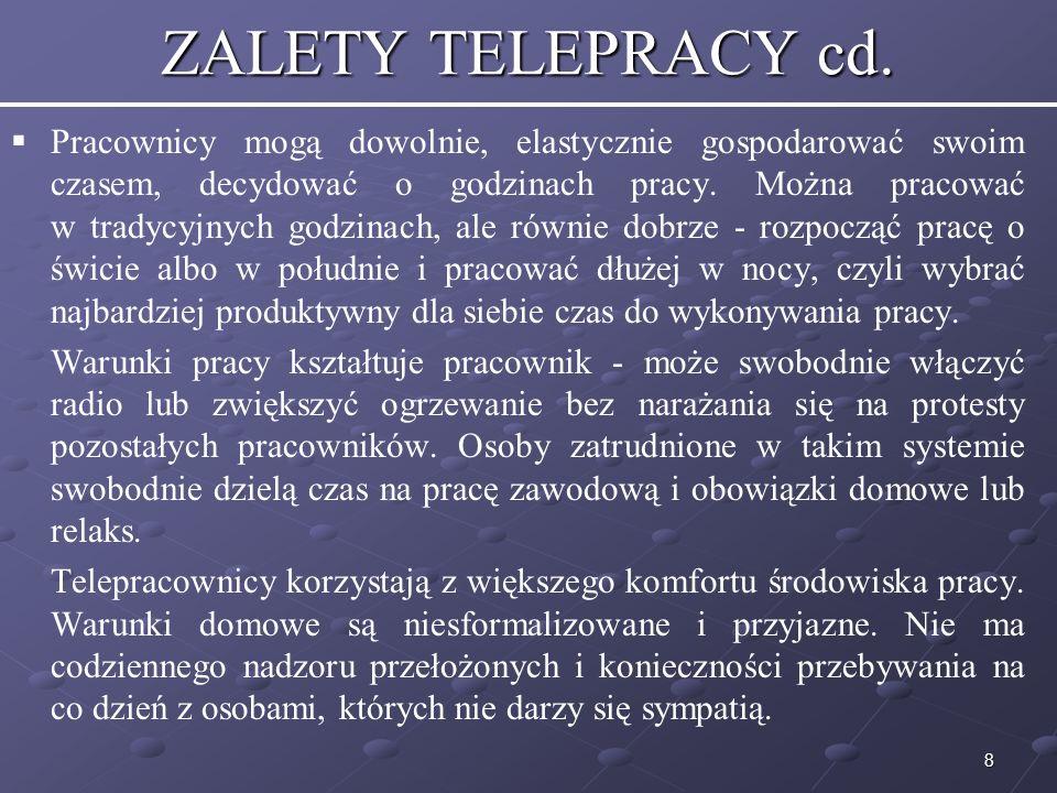 ZALETY TELEPRACY cd.