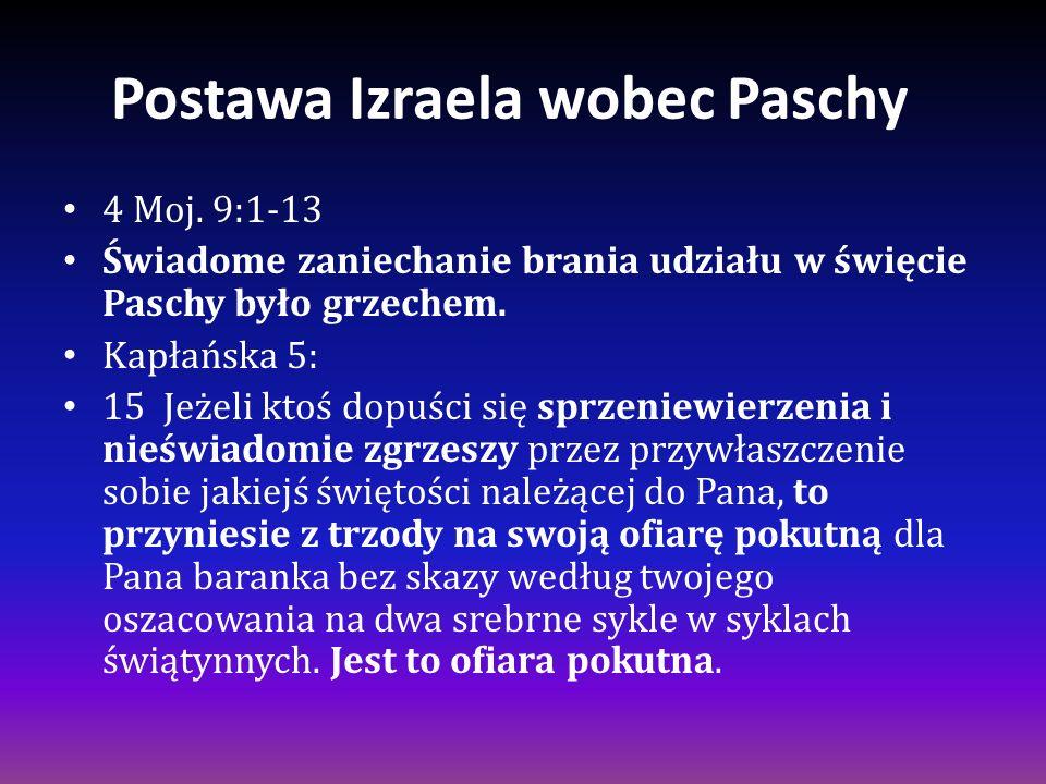 Postawa Izraela wobec Paschy