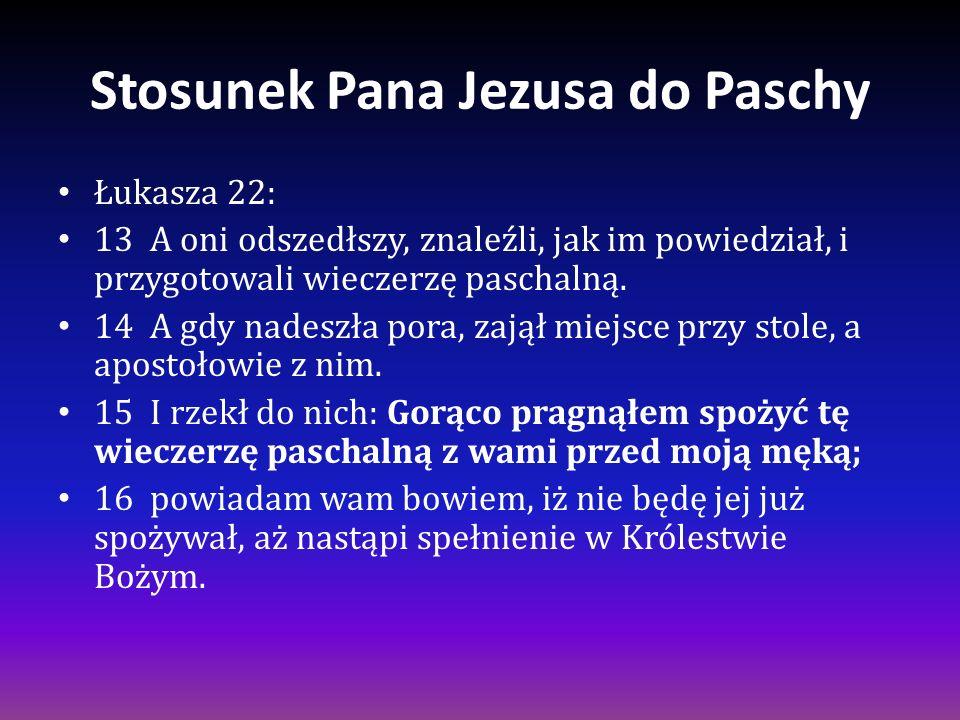 Stosunek Pana Jezusa do Paschy