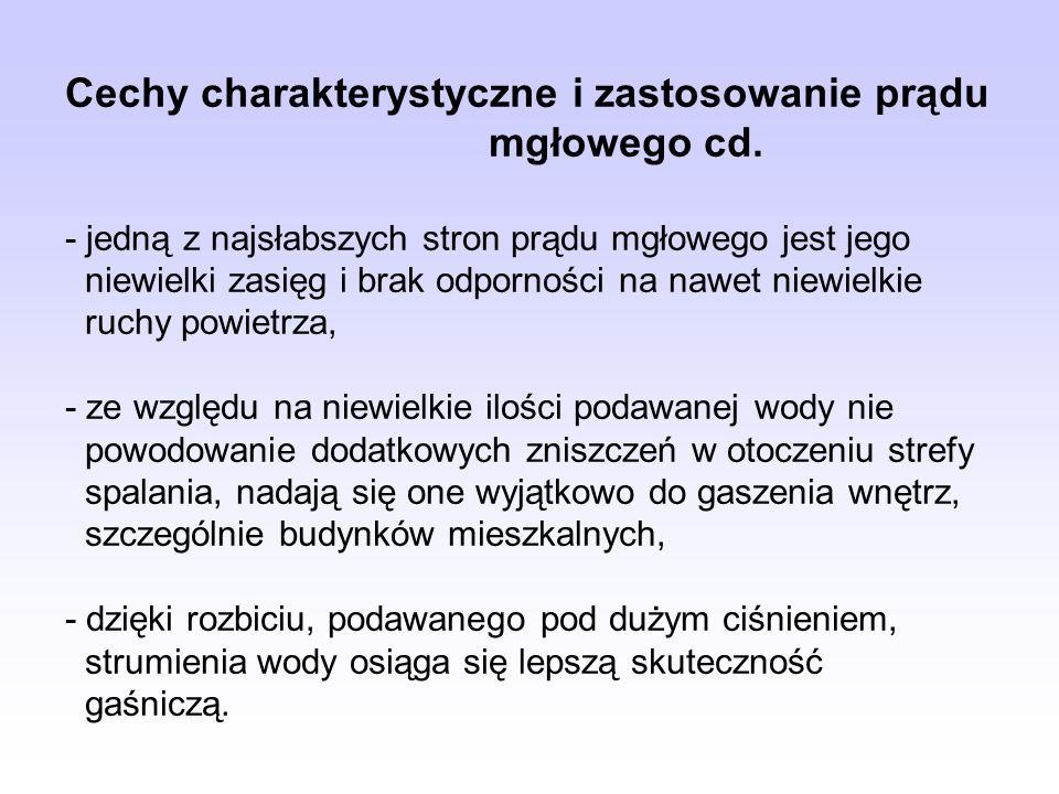 Cechy charakterystyczne i zastosowanie prądu. mgłowego cd