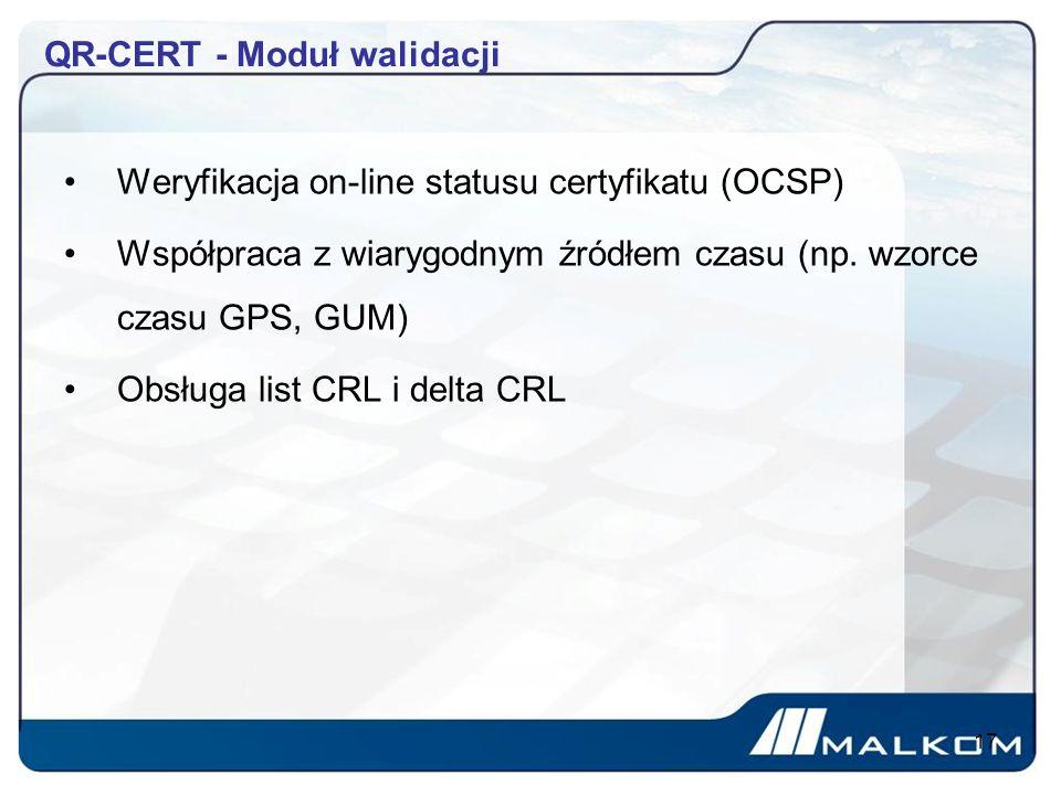 QR-CERT - Moduł walidacji