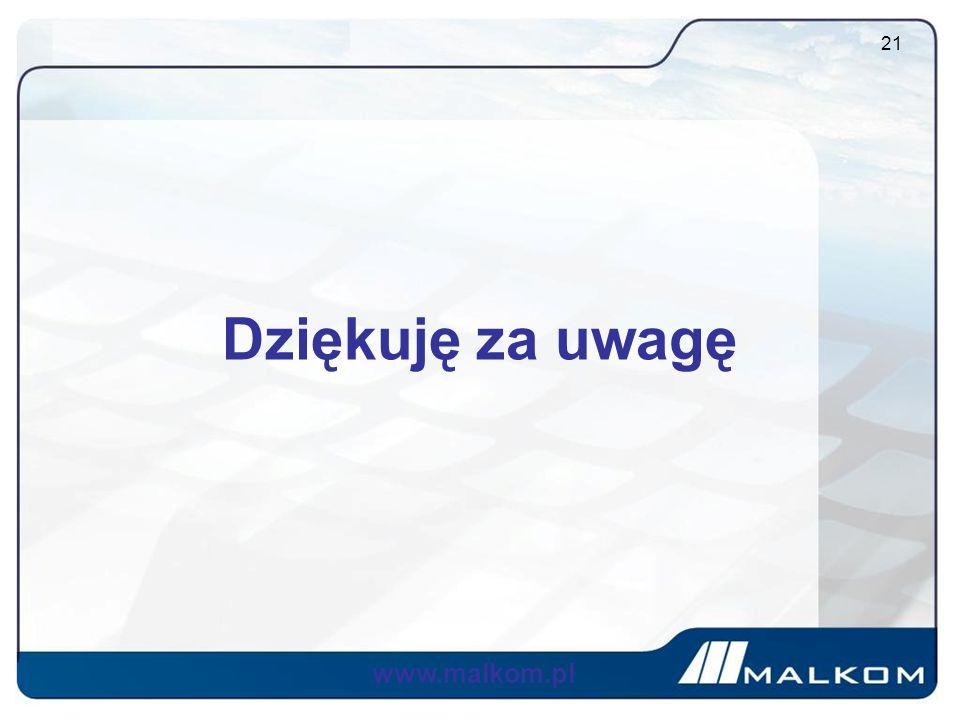 Dziękuję za uwagę www.malkom.pl