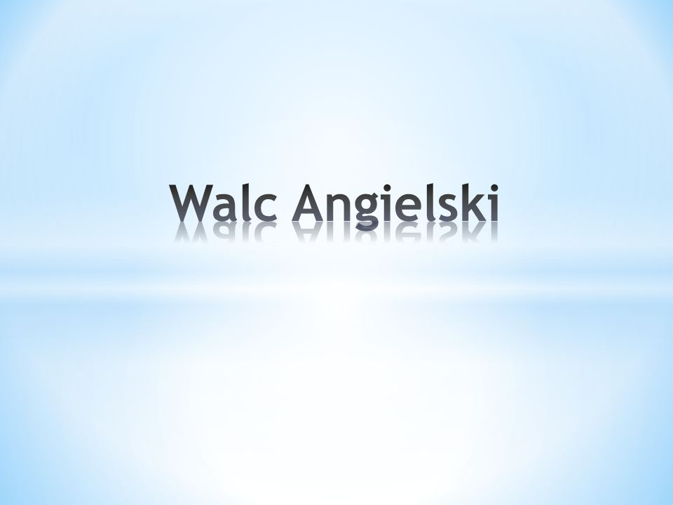 Walc Angielski
