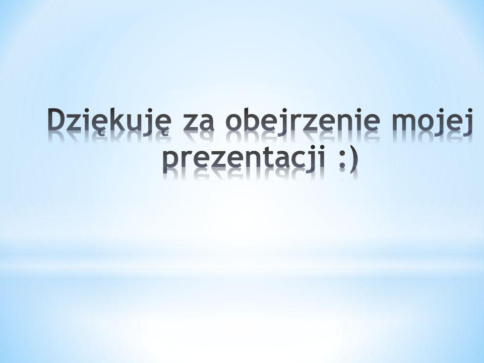 Dziękuję za obejrzenie mojej prezentacji :)