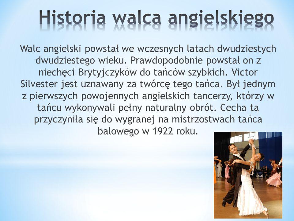 Historia walca angielskiego