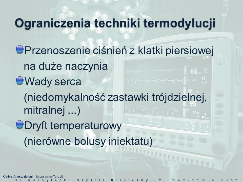 Ograniczenia techniki termodylucji