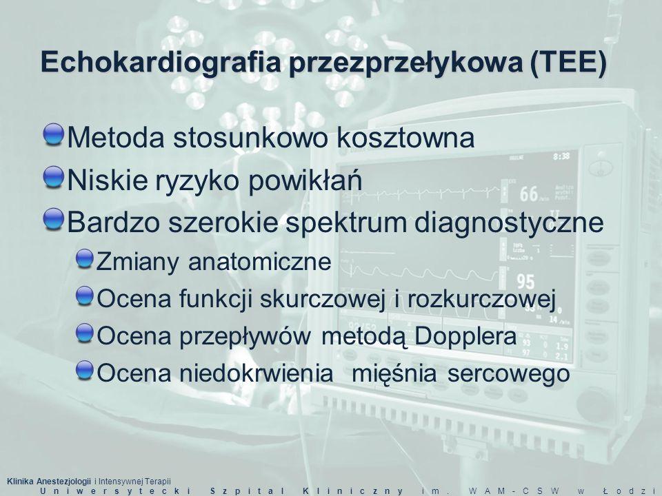 Echokardiografia przezprzełykowa (TEE)