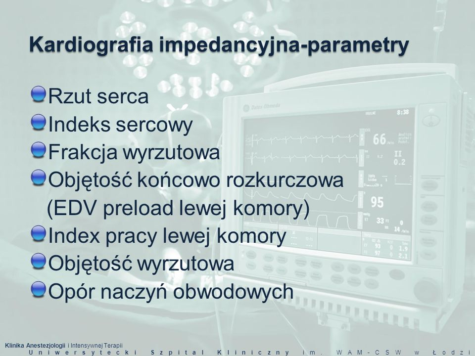 Kardiografia impedancyjna-parametry