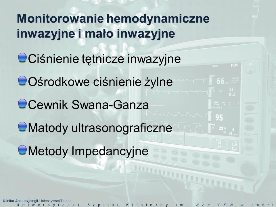 Monitorowanie hemodynamiczne inwazyjne i mało inwazyjne