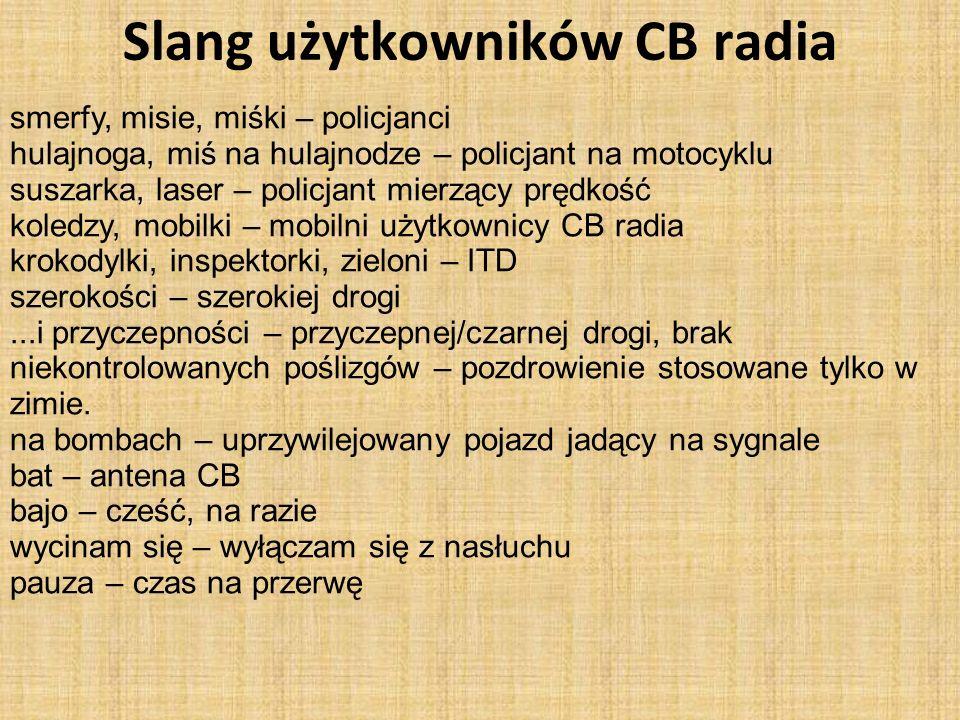 Slang użytkowników CB radia