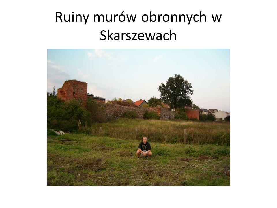 Ruiny murów obronnych w Skarszewach