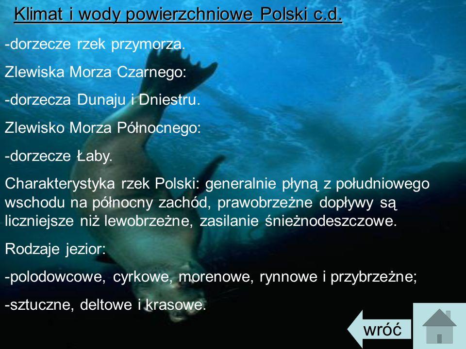 Klimat i wody powierzchniowe Polski c.d.
