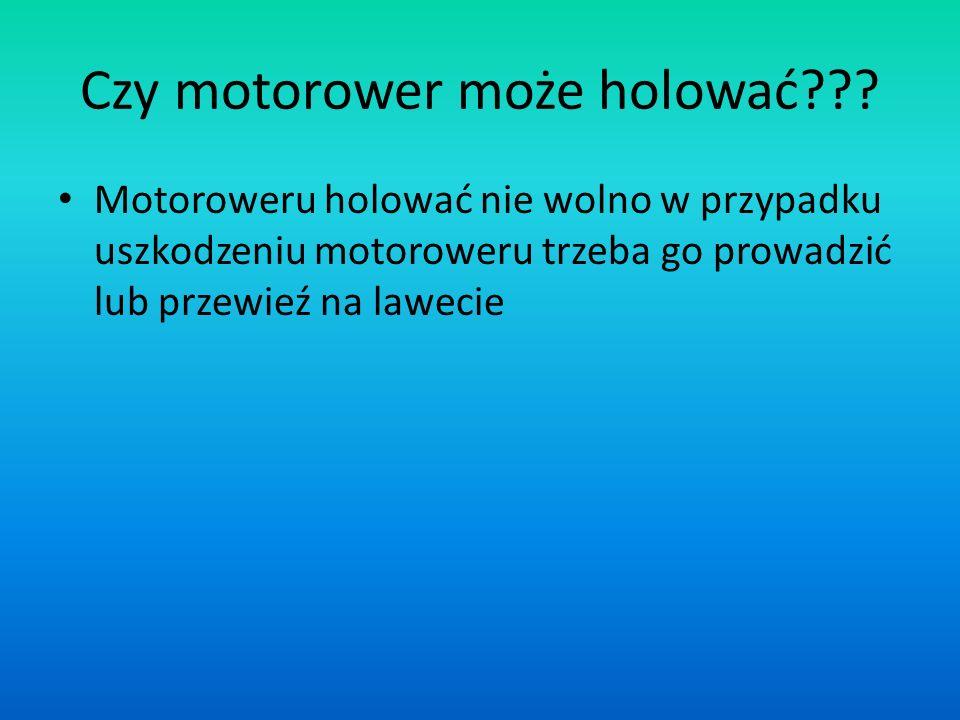 Czy motorower może holować