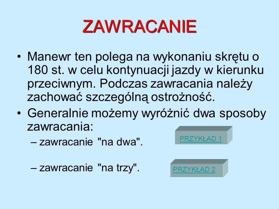 ZAWRACANIE
